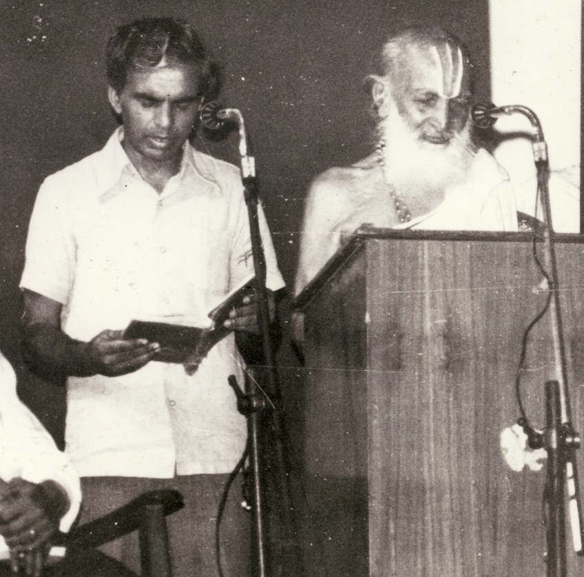 Desikachar and Krishnamacharya in Madras 1980